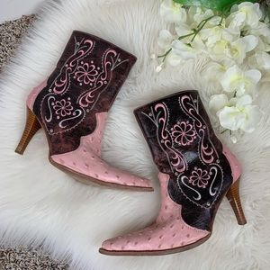 Premier Western Wear Heeled Booties Mex 27 USA 9